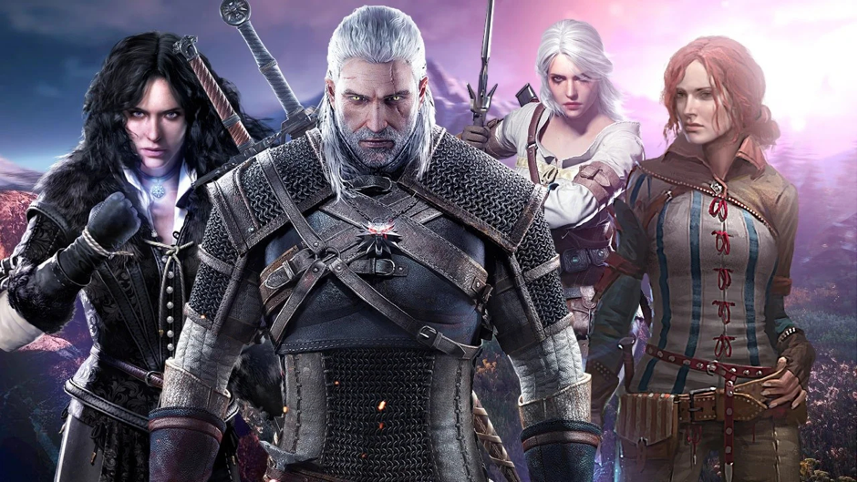 The Cowboy symbolization of The Witcher movie. Yennefer of Vengerber, Geralt of Rivia, Princess Cirilla of Cintra and Triss Merigold from The Witcher 3: Wild Hunt.