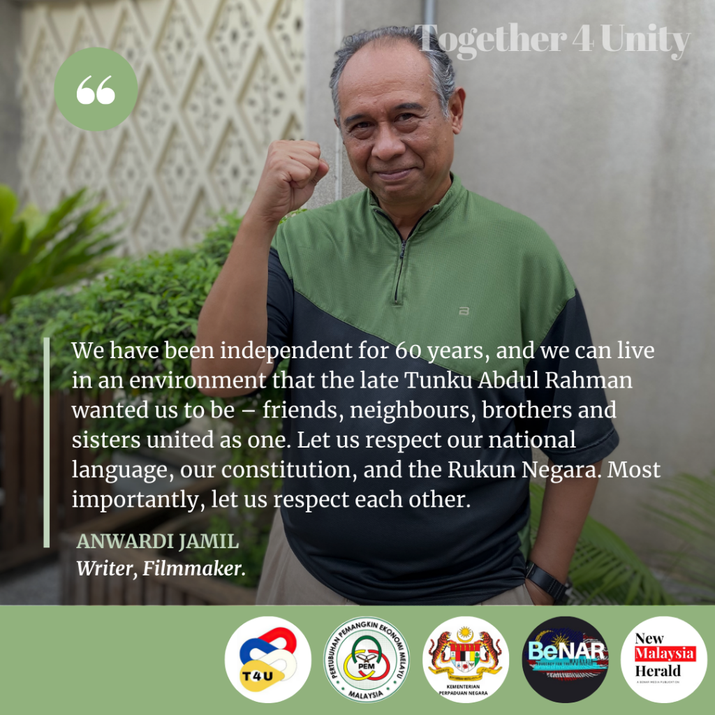 We have been independent for 60 years, and we can live in an environment that the late Tunku Abdul Rahman wanted us to be – friends, neighbours, brothers and sisters united as one. Let us respect our national language, the Rukun Negara, and respect each other.