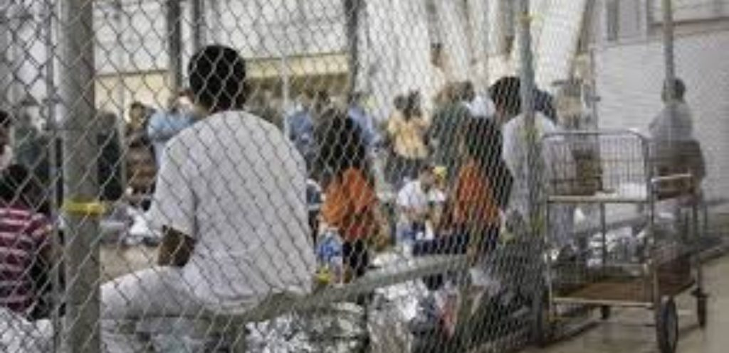 Donald Trump had people putting children in cages, blocking people from countries from flying into America